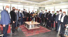MHP İl Başkanı Murat Öner ve Yönetim Kurulundan Başkan Ergün'e Ziyaret
